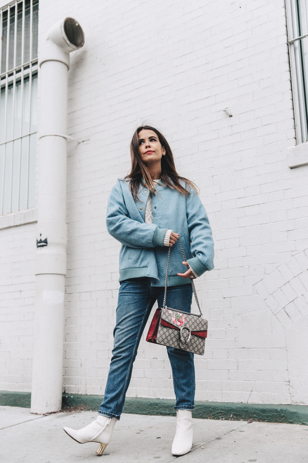 Blue_Bomber-Ganni-Topshop_Jeans-White_Boots-Gucci_Bag-Outfit-NYFW-New_York-Street_Style-15