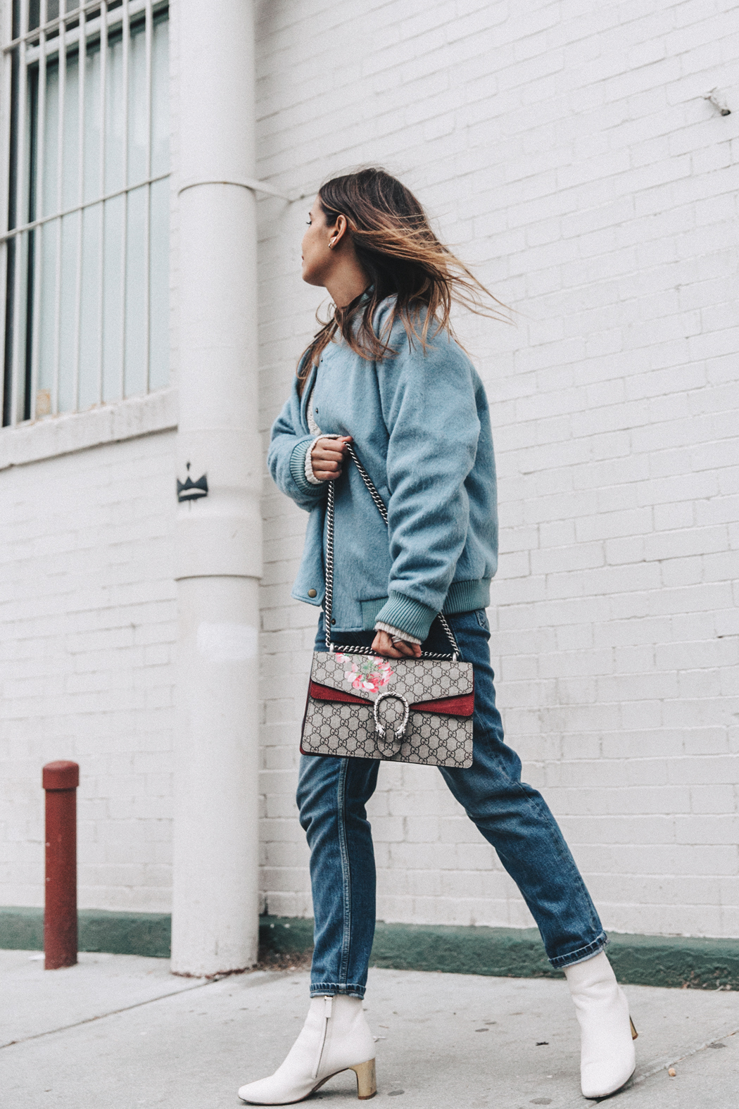 Blue_Bomber-Ganni-Topshop_Jeans-White_Boots-Gucci_Bag-Outfit-NYFW-New_York-Street_Style-16