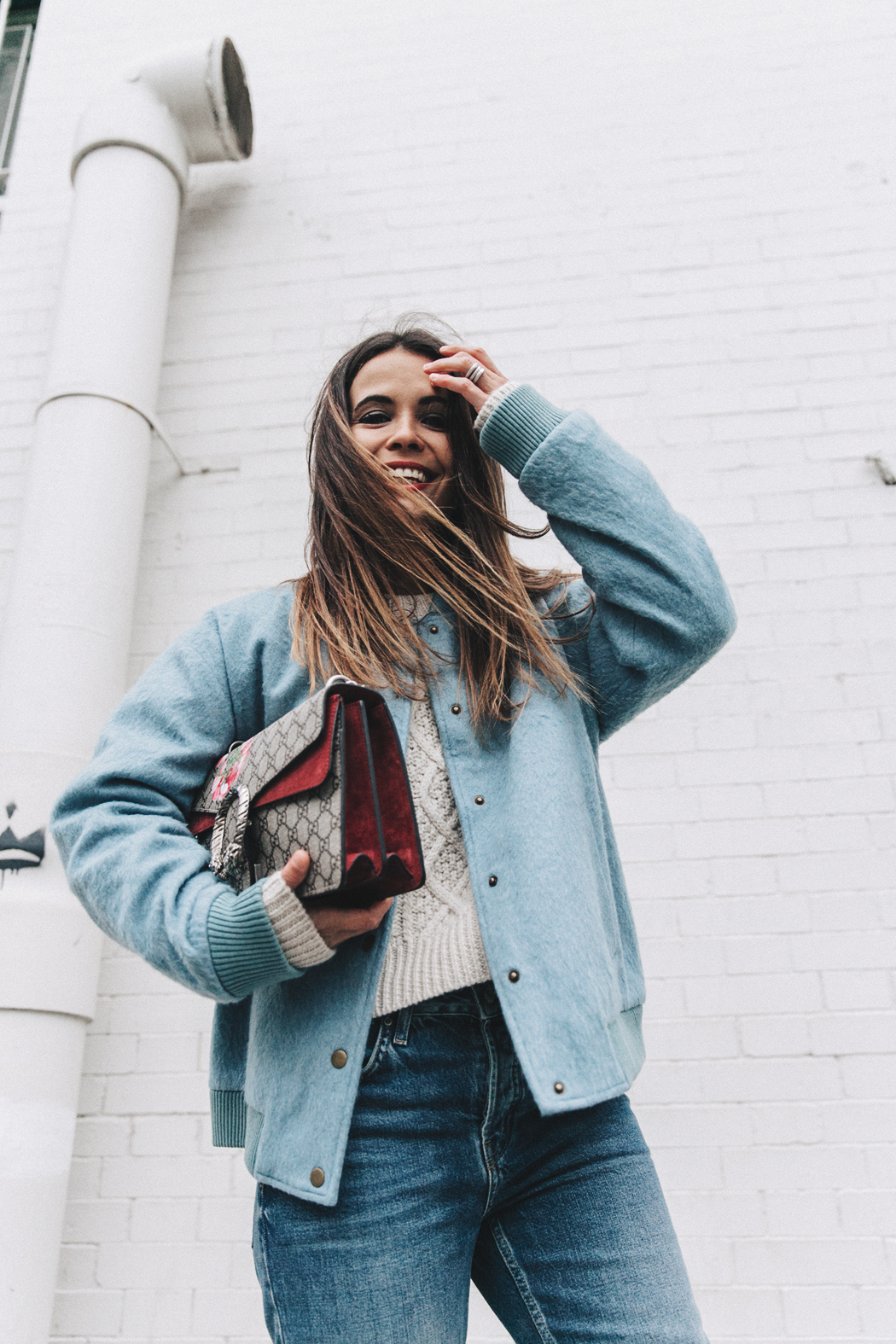 Blue_Bomber-Ganni-Topshop_Jeans-White_Boots-Gucci_Bag-Outfit-NYFW-New_York-Street_Style-23