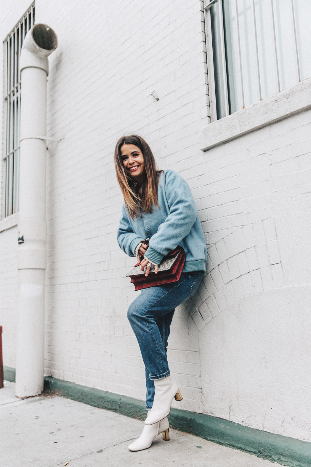 Blue_Bomber-Ganni-Topshop_Jeans-White_Boots-Gucci_Bag-Outfit-NYFW-New_York-Street_Style-5b