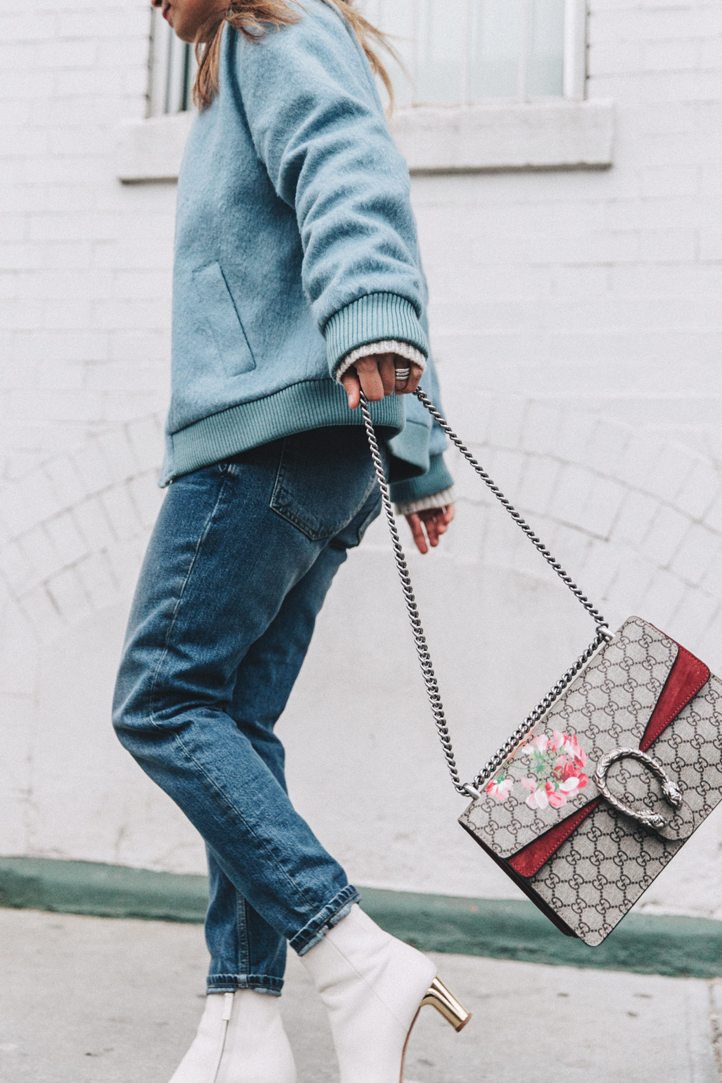 Blue_Bomber-Ganni-Topshop_Jeans-White_Boots-Gucci_Bag-Outfit-NYFW-New_York-Street_Style-7