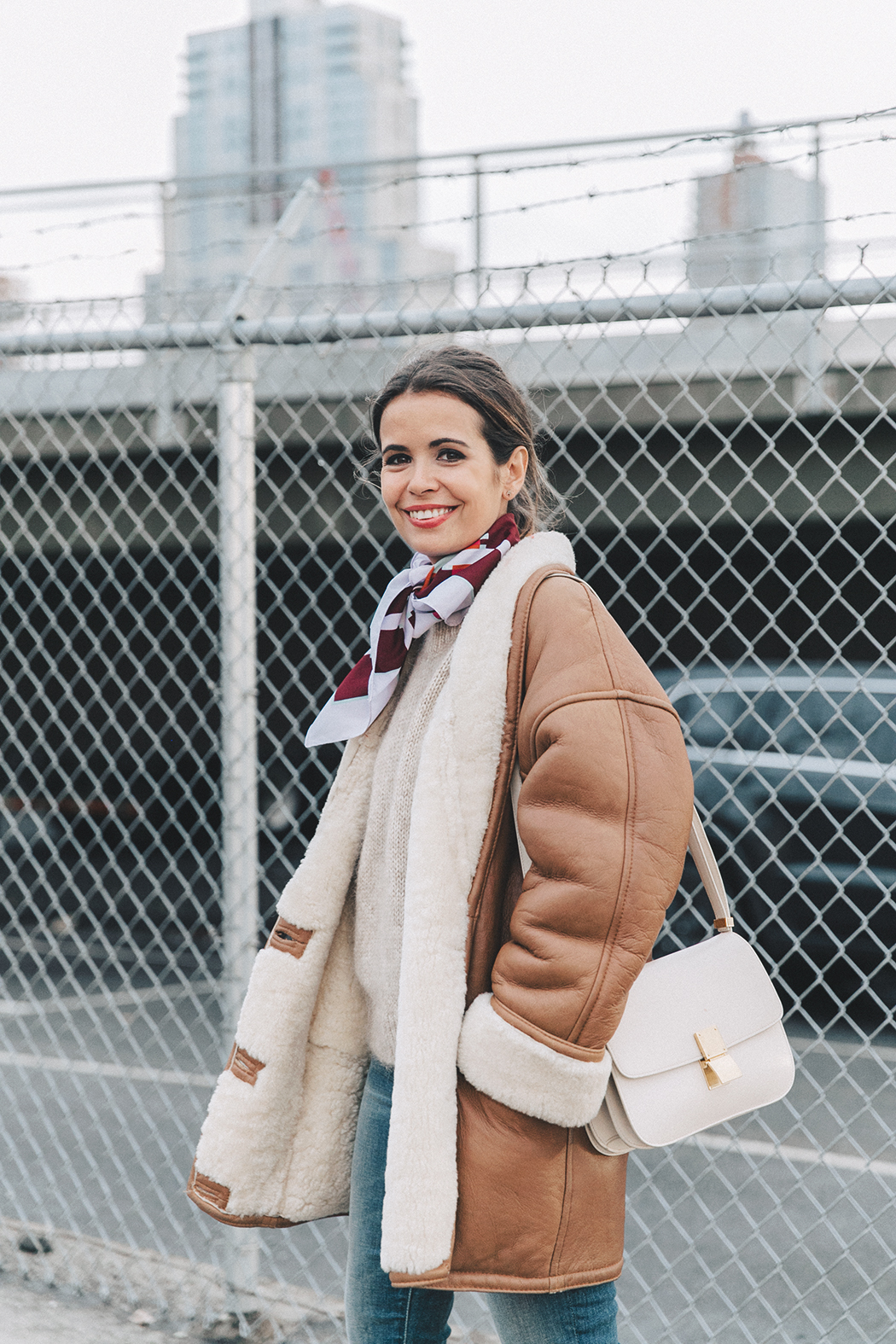 Collage_Vintage-Vintage_Coat-Jeans-Mother_Denim-Vintage_Scarf-White_Boots-Outfit-NYFW-Street_Style-Celine_Box-13