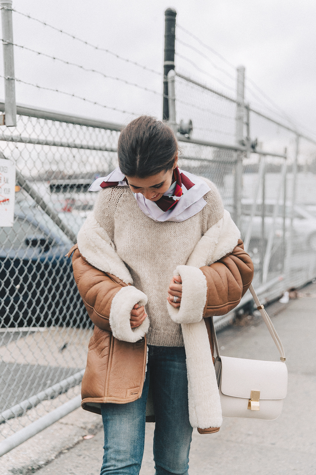 Collage_Vintage-Vintage_Coat-Jeans-Mother_Denim-Vintage_Scarf-White_Boots-Outfit-NYFW-Street_Style-Celine_Box-29
