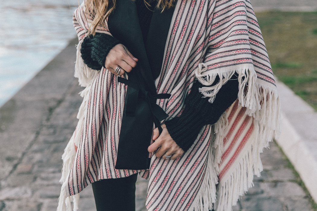 Collage_Vintage_Outfit-Maje_Exclusive-Poncho-Striped-Black-Celine_Boots-Street_Style-PFW-66