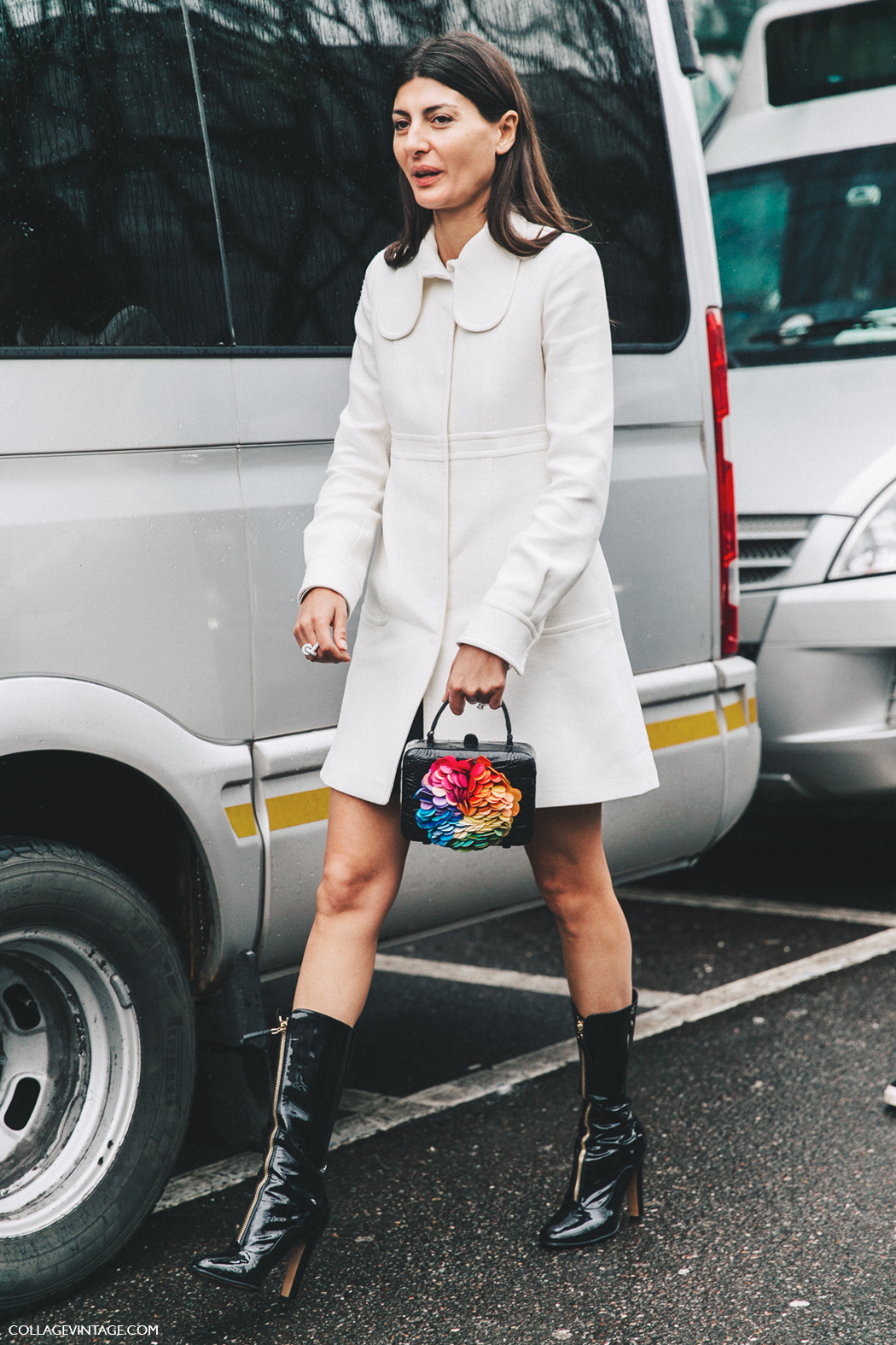 Milan_Fashion_Week_Fall_16-MFW-Street_Style-Collage_Vintage-Giovanna_Battaglia-Zipper_Boots-White_Coat-1