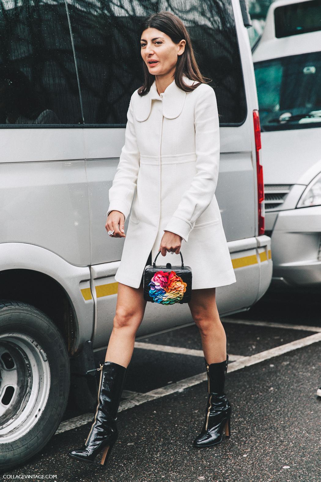 Milan_Fashion_Week_Fall_16-MFW-Street_Style-Collage_Vintage-Giovanna_Battaglia-Zipper_Boots-White_Coat-1