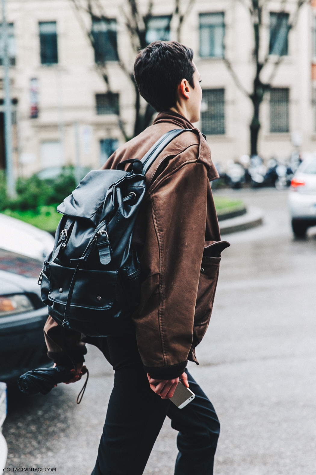 Milan_Fashion_Week_Fall_16-MFW-Street_Style-Collage_Vintage-Leather_Bomber-Armani_Backpack-1