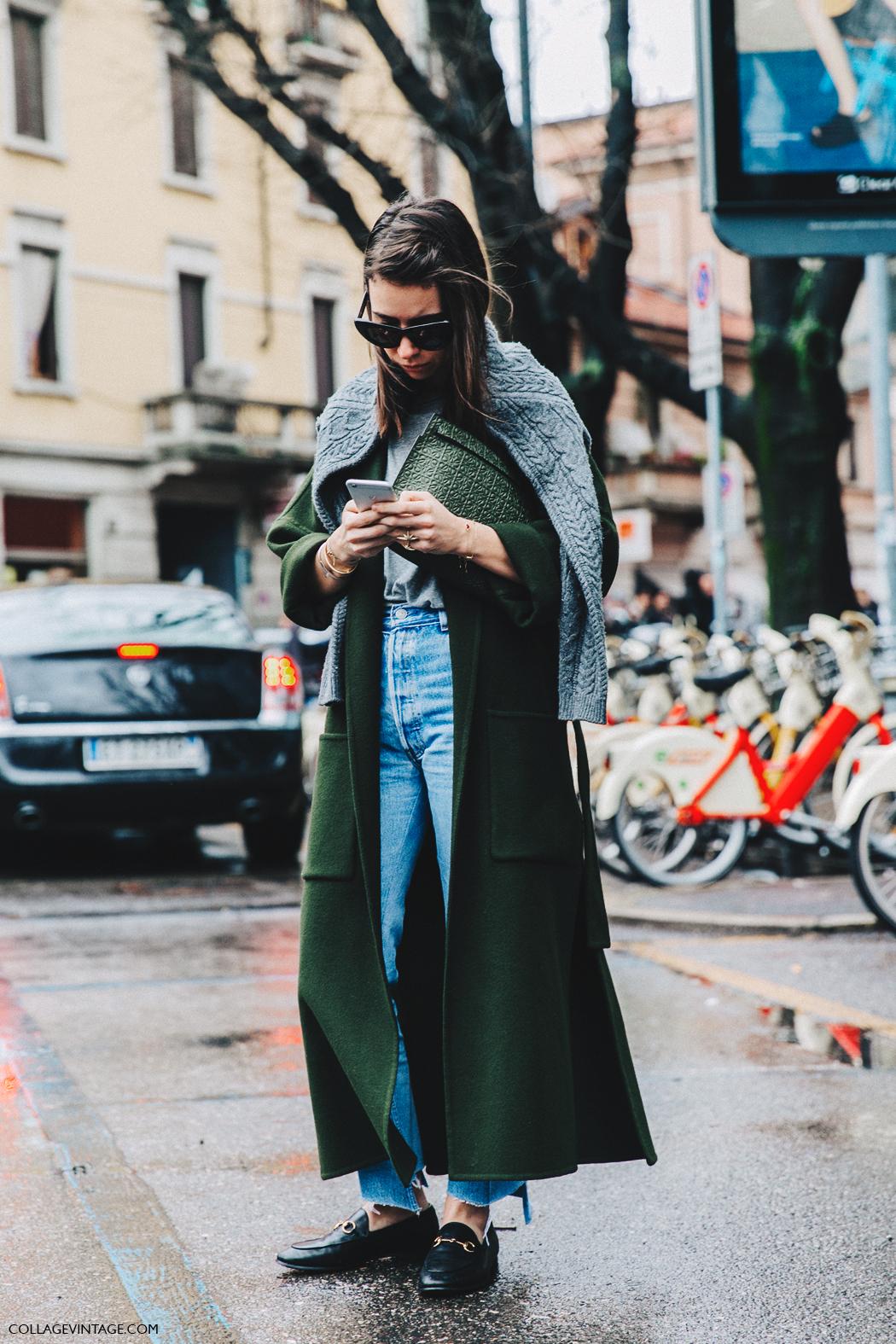 Milan_Fashion_Week_Fall_16-MFW-Street_Style-Collage_Vintage-Natasha_Goldenberg-Maxi_Coat-GUcci_Loafers-6