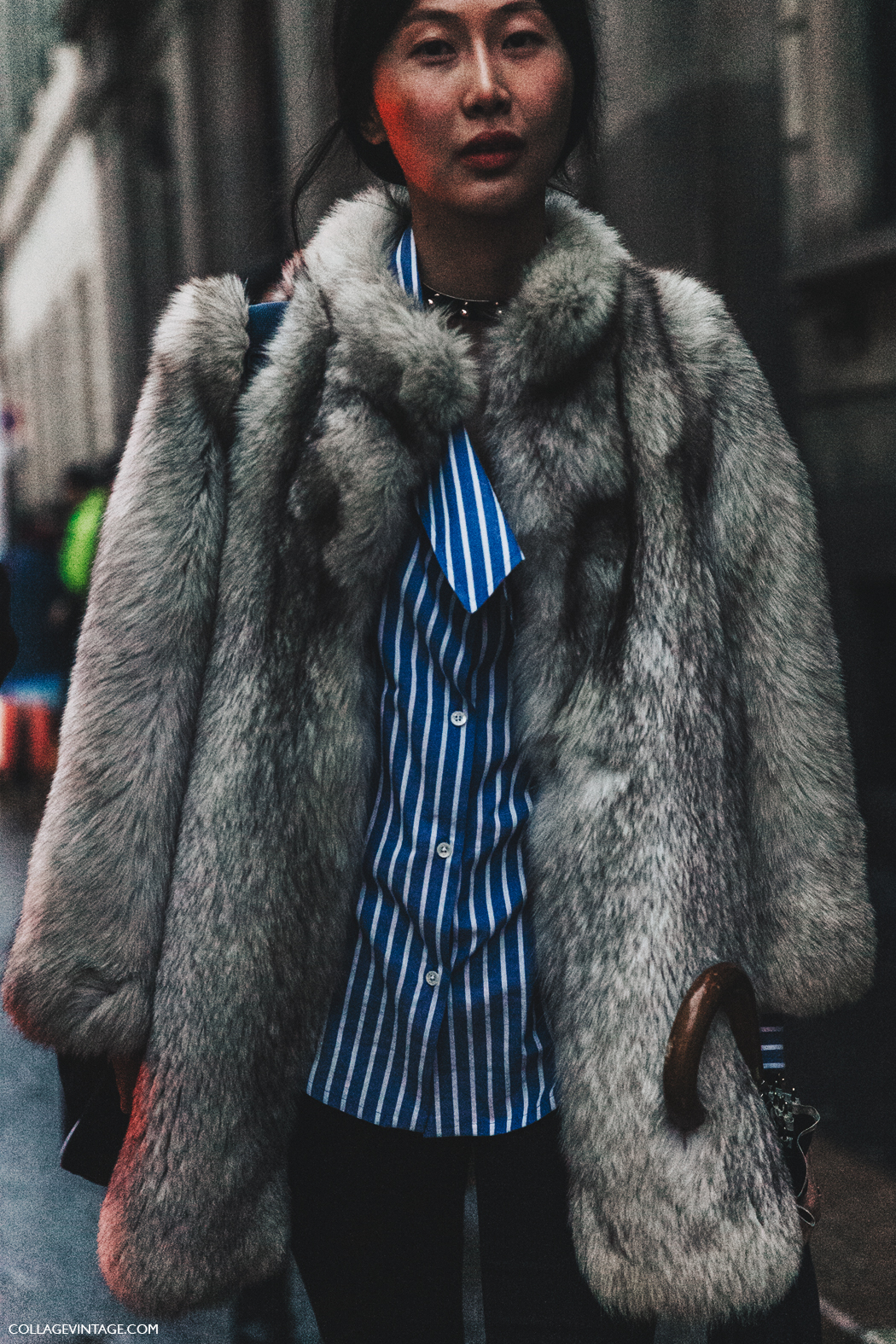Milan_Fashion_Week_Fall_16-MFW-Street_Style-Collage_Vintage-Striped_Blouse-Fur_Coat-