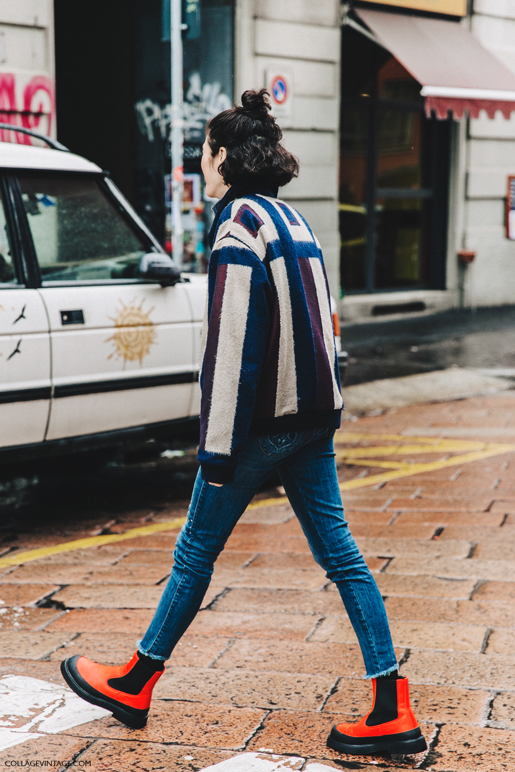 Milan_Fashion_Week_Fall_16-MFW-Street_Style-Collage_Vintage-Striped_Bomber-Celine_Rainy_Boots-1