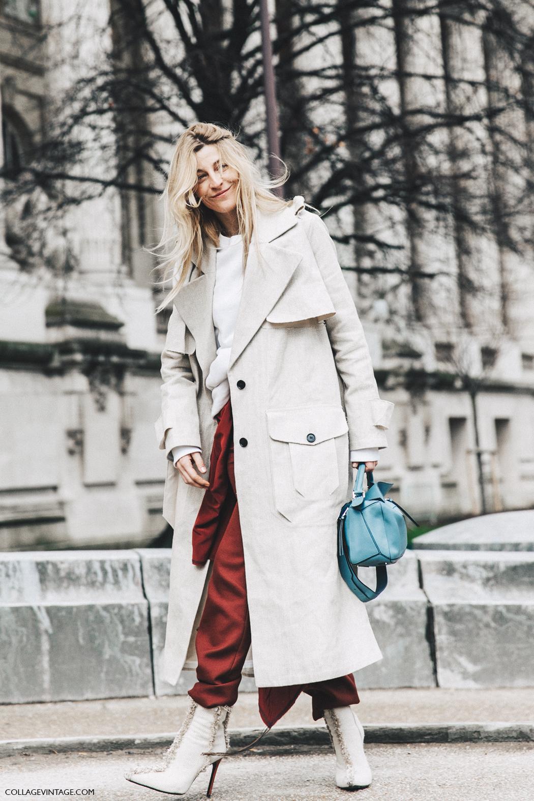 PFW-Paris_Fashion_Week_Fall_2016-Street_Style-Collage_Vintage-Ada_kokosar-TRench-Loewe-20