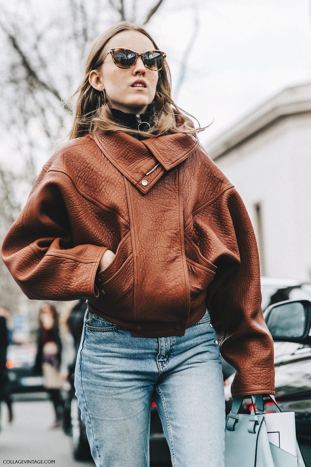 PFW-Paris_Fashion_Week_Fall_2016-Street_Style-Collage_Vintage-Alexandra_Carl-Leather_Jacket-Celine_Boots-