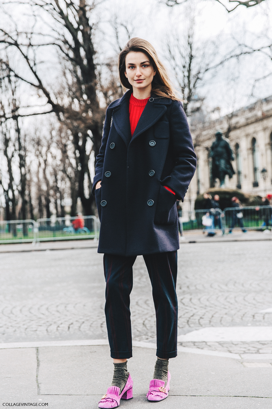 PFW-Paris_Fashion_Week_Fall_2016-Street_Style-Collage_Vintage-Andreea_Diaconu-Gucci_Pink_shoes-1
