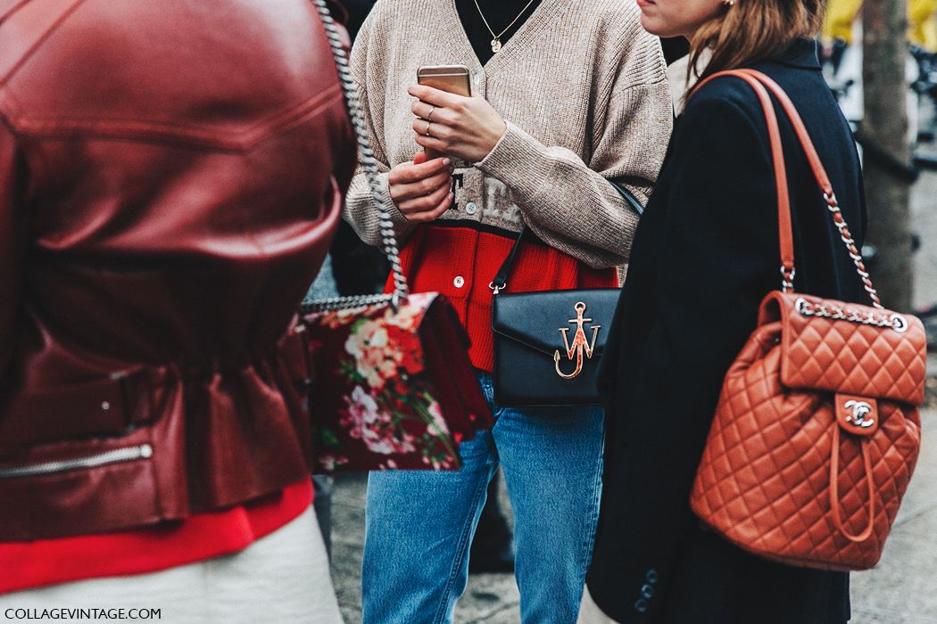 PFW-Paris_Fashion_Week_Fall_2016-Street_Style-Collage_Vintage-Chanel_Backpack-JW_Anderson_Bag-Gucci-