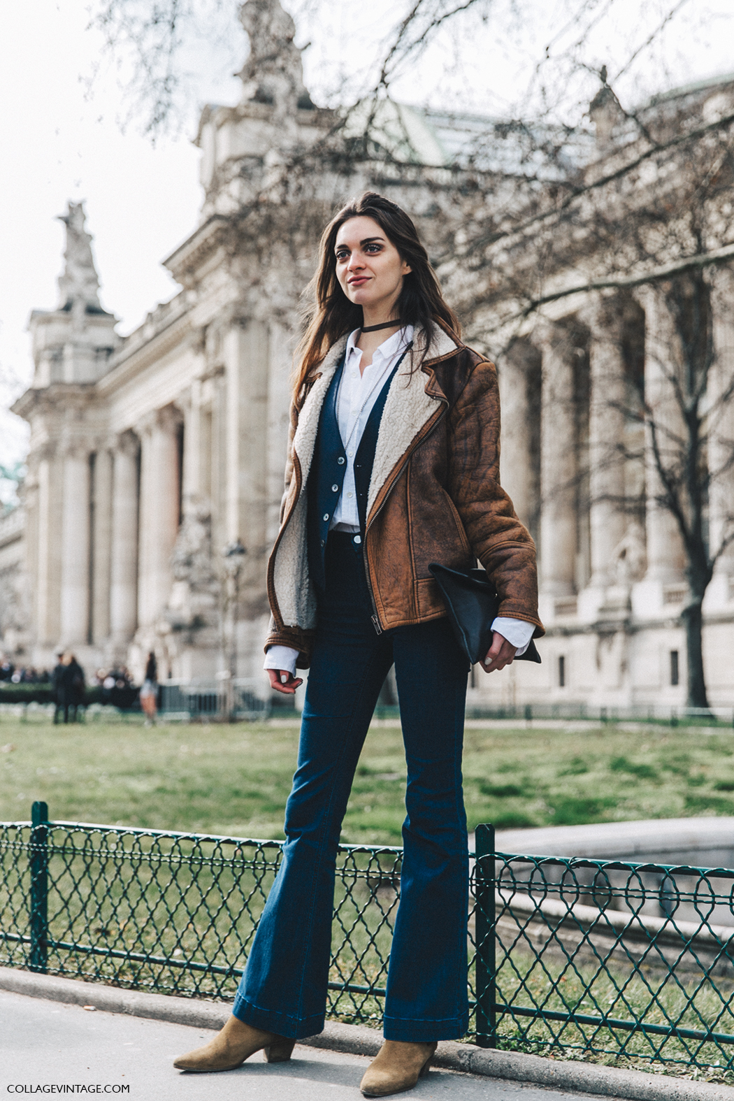 PFW-Paris_Fashion_Week_Fall_2016-Street_Style-Collage_Vintage-Denim-Shearling_Coat-