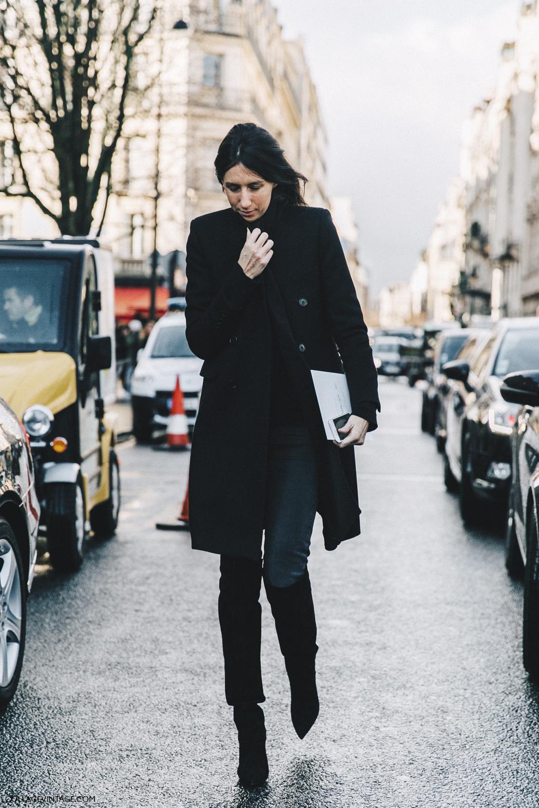 PFW-Paris_Fashion_Week_Fall_2016-Street_Style-Collage_Vintage-Geraldine_Saglio-Total_Blacl-