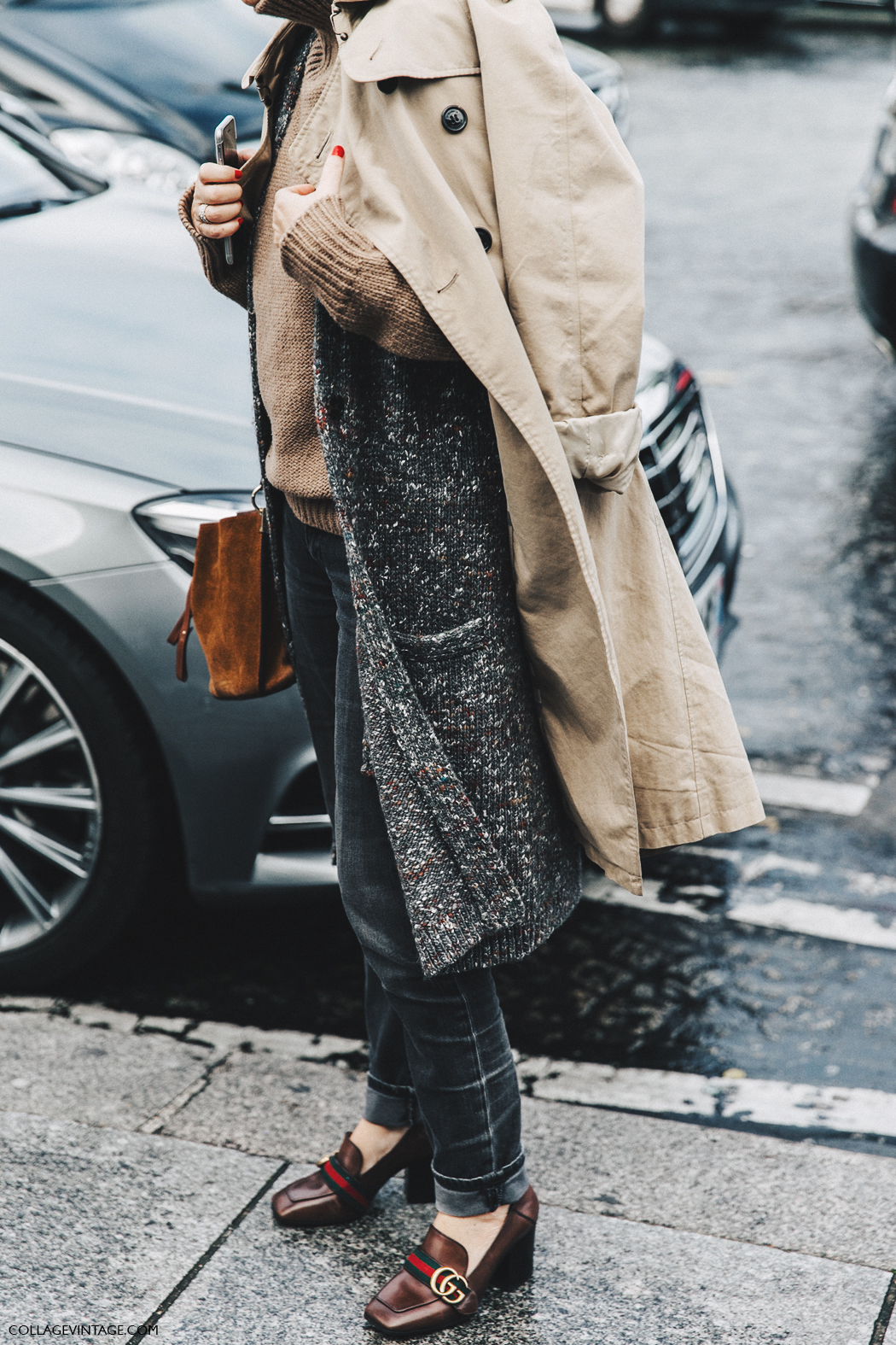 PFW-Paris_Fashion_Week_Fall_2016-Street_Style-Collage_Vintage-Layers-Trench-Gucci_Shoes-