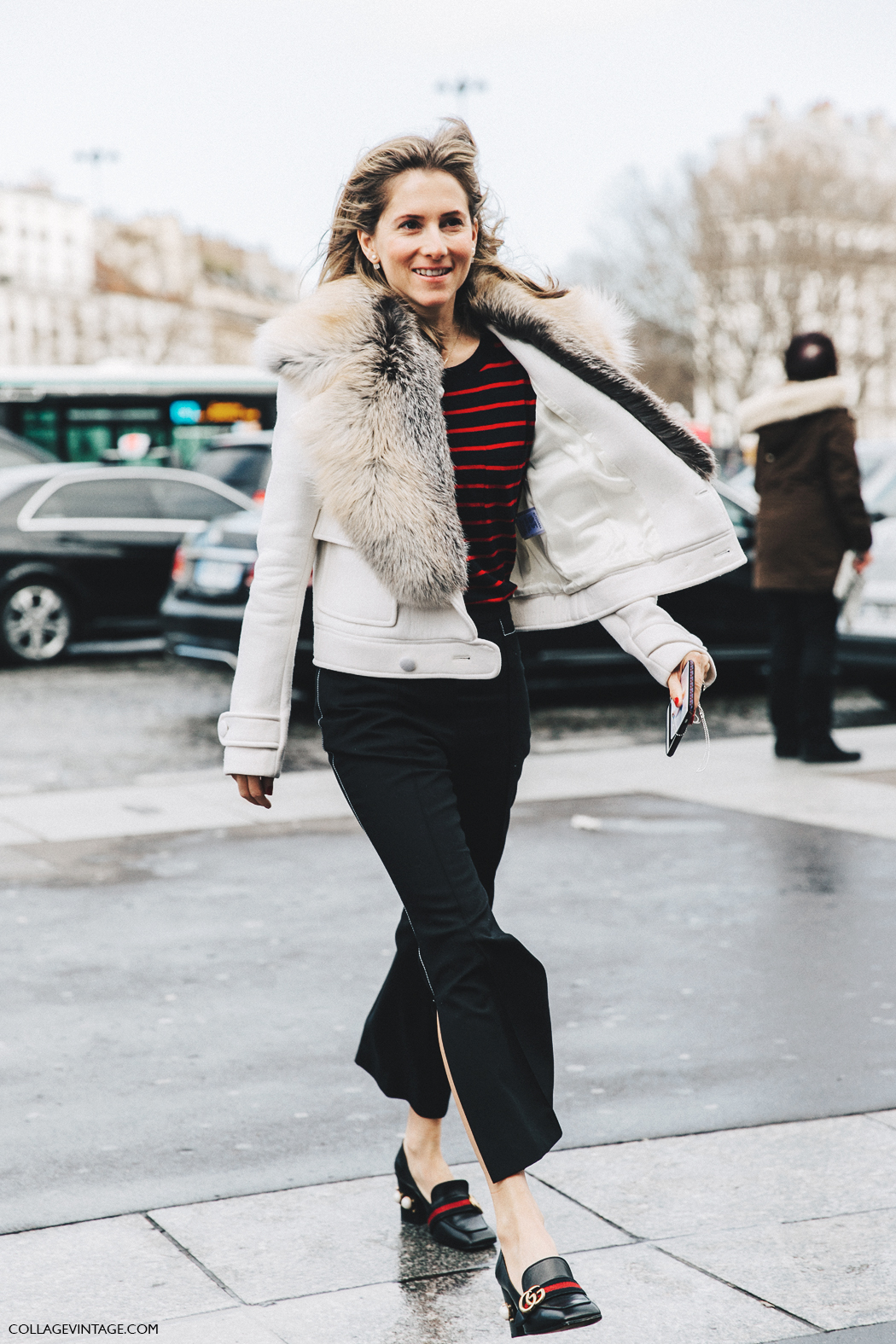 PFW-Paris_Fashion_Week_Fall_2016-Street_Style-Collage_Vintage-Marina_Larraude-Stripes-Gucci-