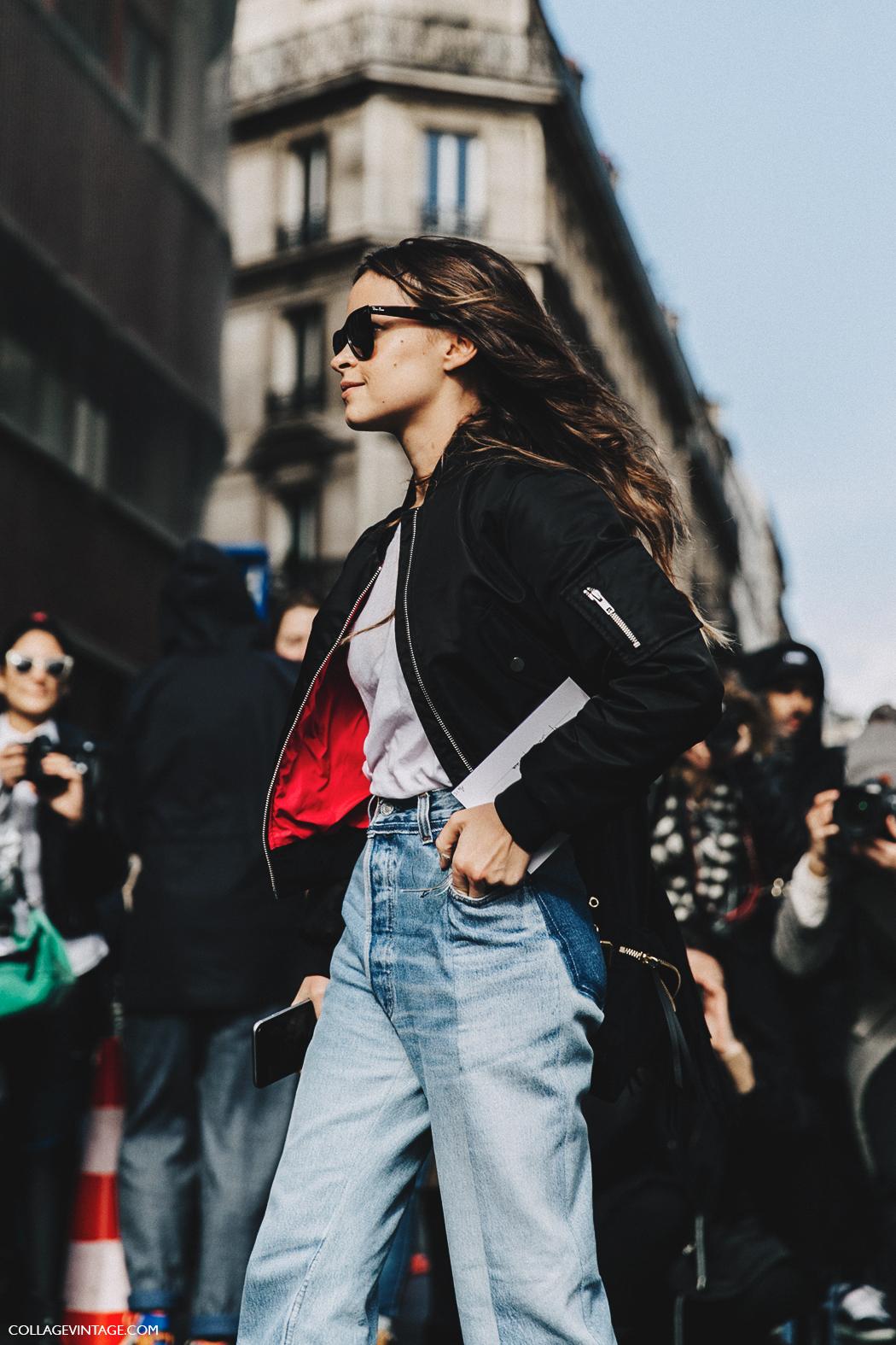 PFW-Paris_Fashion_Week_Fall_2016-Street_Style-Collage_Vintage-Miroslava_Duma-Vetements-Jeans-Backpack-Bomber-10