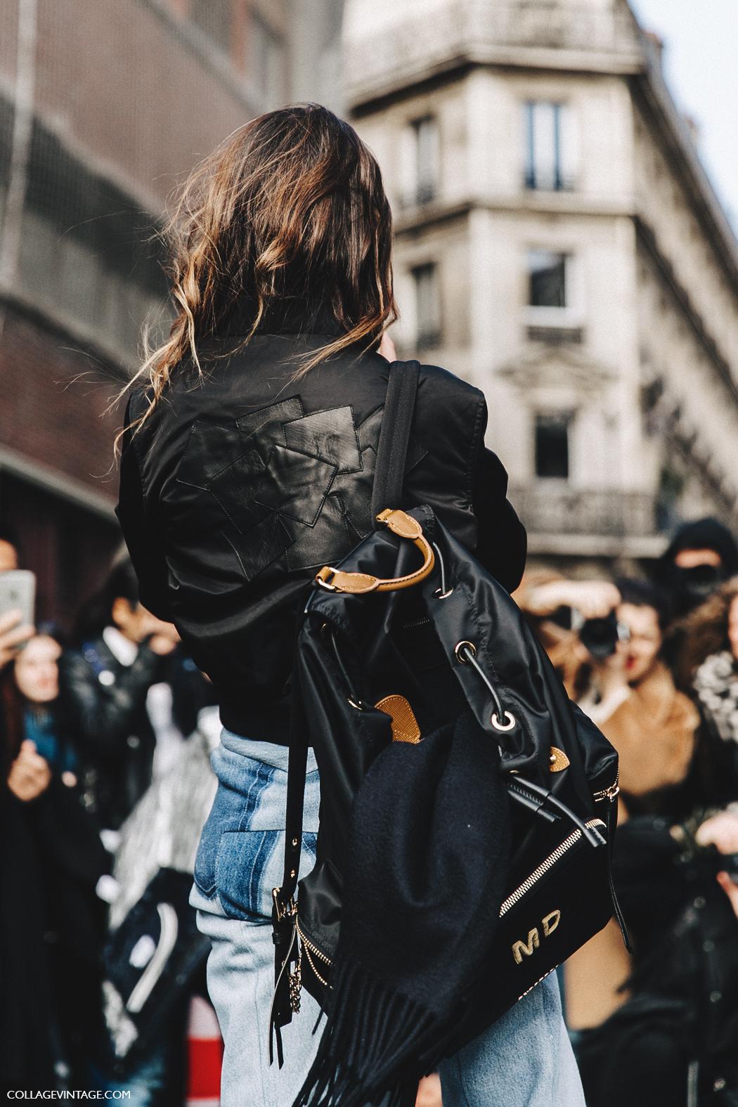 PFW-Paris_Fashion_Week_Fall_2016-Street_Style-Collage_Vintage-Miroslava_Duma-Vetements-Jeans-Backpack-Bomber-4