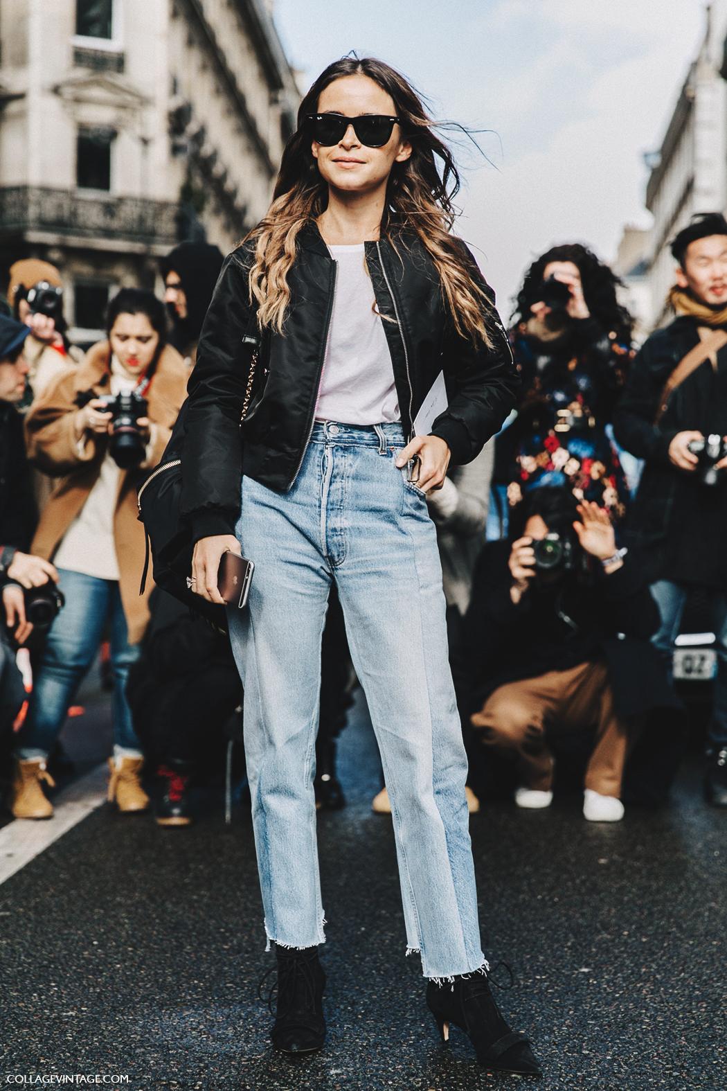 PFW-Paris_Fashion_Week_Fall_2016-Street_Style-Collage_Vintage-Miroslava_Duma-Vetements-Jeans-Backpack-Bomber-6