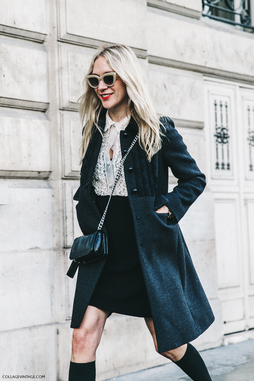 PFW-Paris_Fashion_Week_Fall_2016-Street_Style-Collage_Vintage-Miu_Miu-Chloe_Sevigny-Socks-15