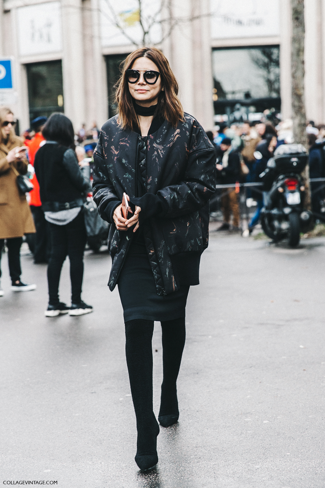 PFW-Paris_Fashion_Week_Fall_2016-Street_Style-Collage_Vintage-Miu_Miu-Christine_Centenera-Bomber-
