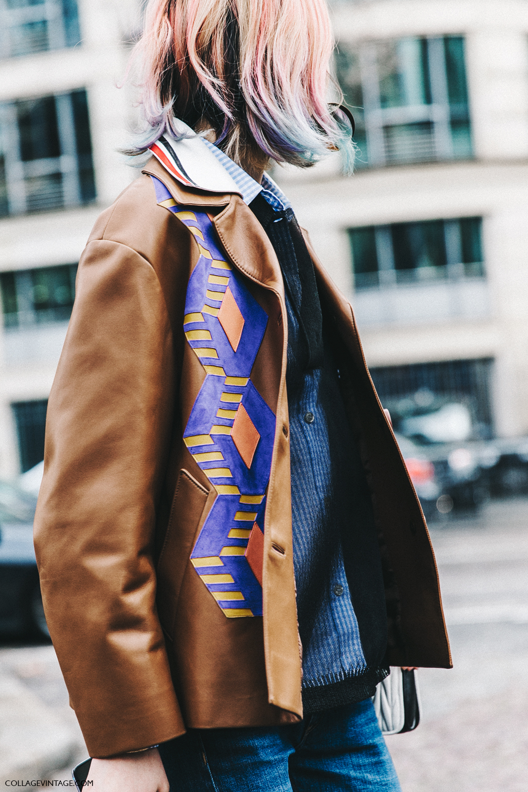 PFW-Paris_Fashion_Week_Fall_2016-Street_Style-Collage_Vintage-Miu_Miu-Leather_Blazer-