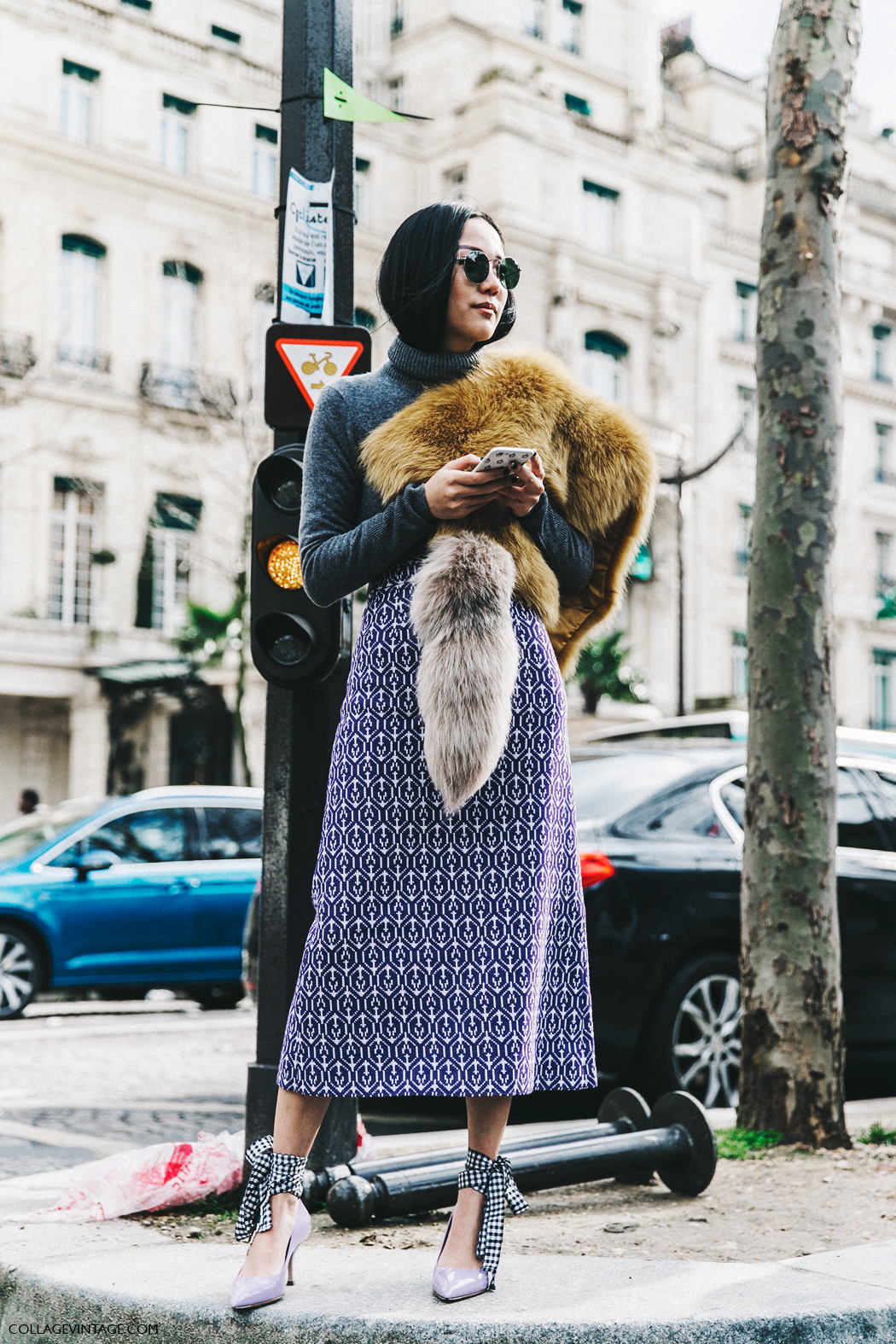 PFW-Paris_Fashion_Week_Fall_2016-Street_Style-Collage_Vintage-Miu_Miu-Yoyo_Cao-Pencil_Skirt-Purple-2