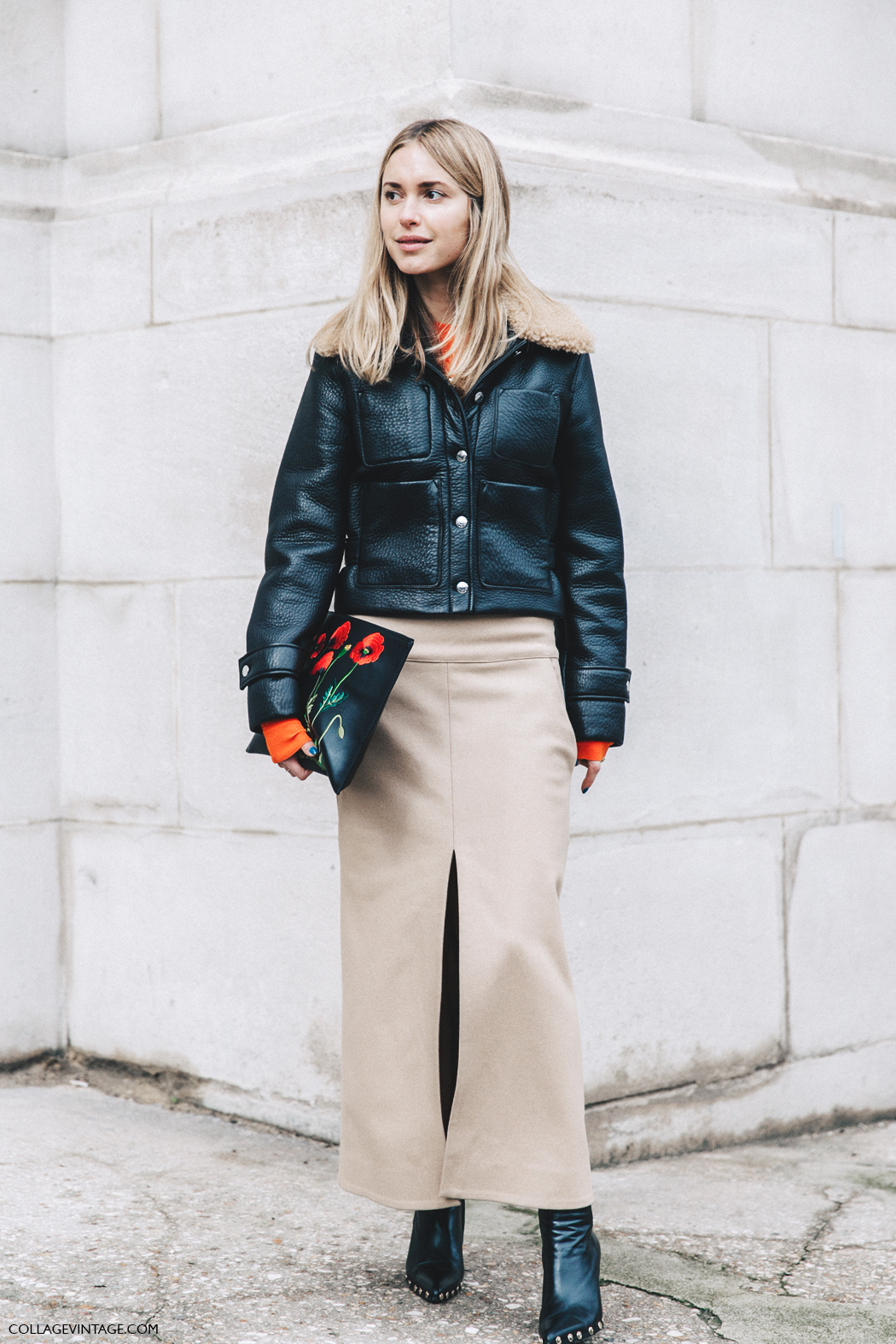 PFW-Paris_Fashion_Week_Fall_2016-Street_Style-Collage_Vintage-Pernille_Teisbaek-Camel_Skirt-Celine_boots-4
