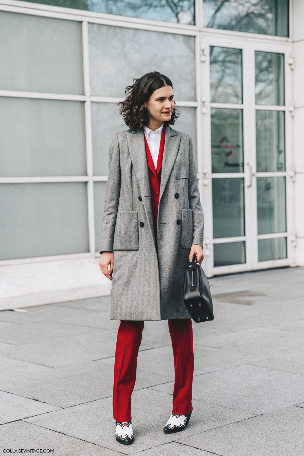 PFW-Paris_Fashion_Week_Fall_2016-Street_Style-Collage_Vintage-Red-Grey_Coat-1