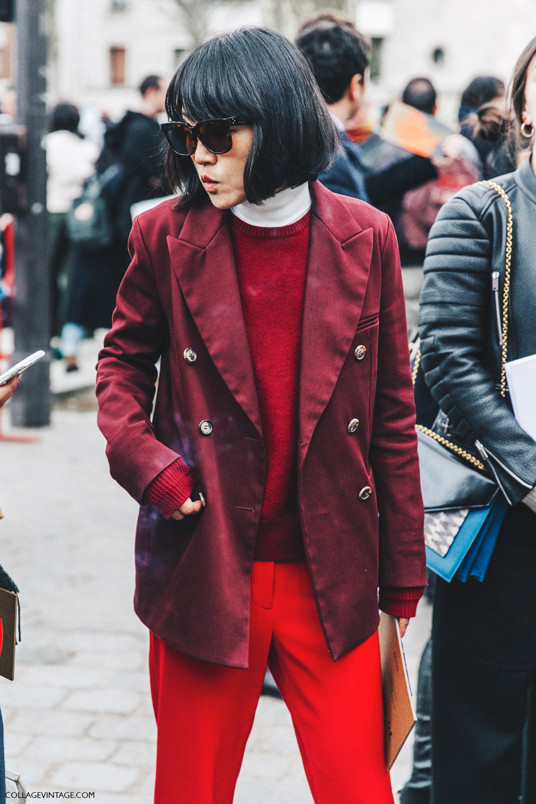 PFW-Paris_Fashion_Week_Fall_2016-Street_Style-Collage_Vintage-Red_Burgundy-