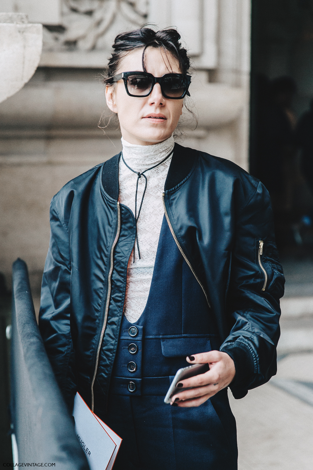 PFW-Paris_Fashion_Week_Fall_2016-Street_Style-Collage_Vintage-Sara_Marija_Saric-Bomber-Lace-