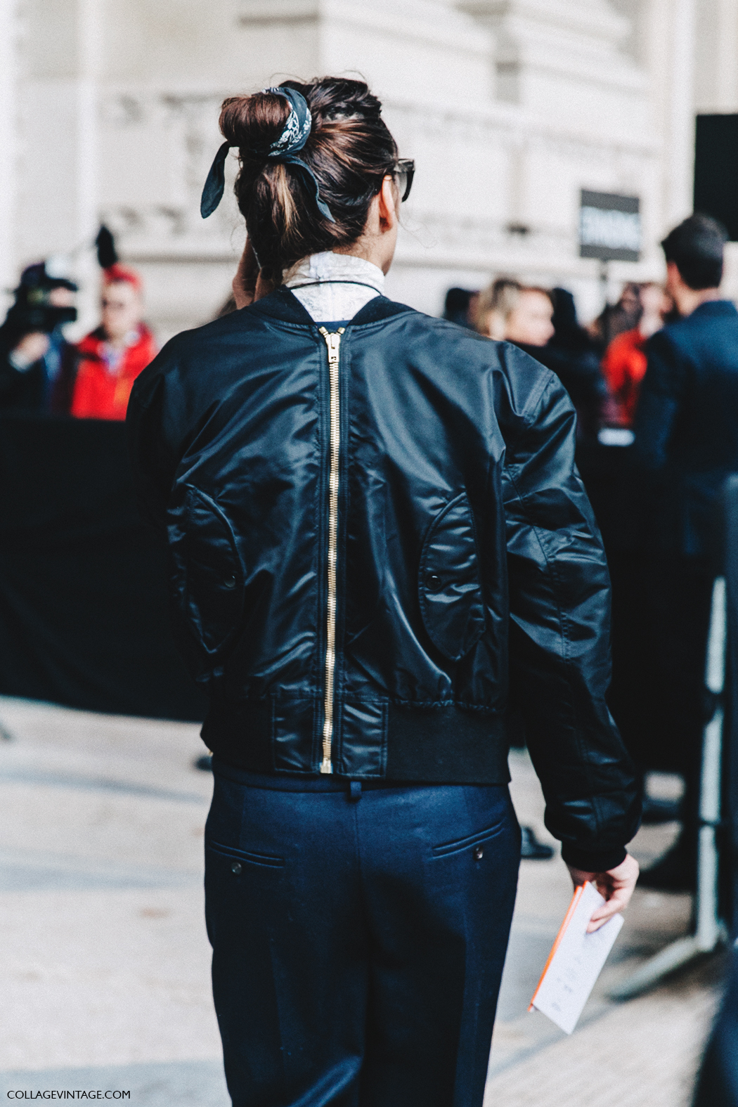 PFW-Paris_Fashion_Week_Fall_2016-Street_Style-Collage_Vintage-Sara_Marija_Saric-Bomber-Lace-Vetements-