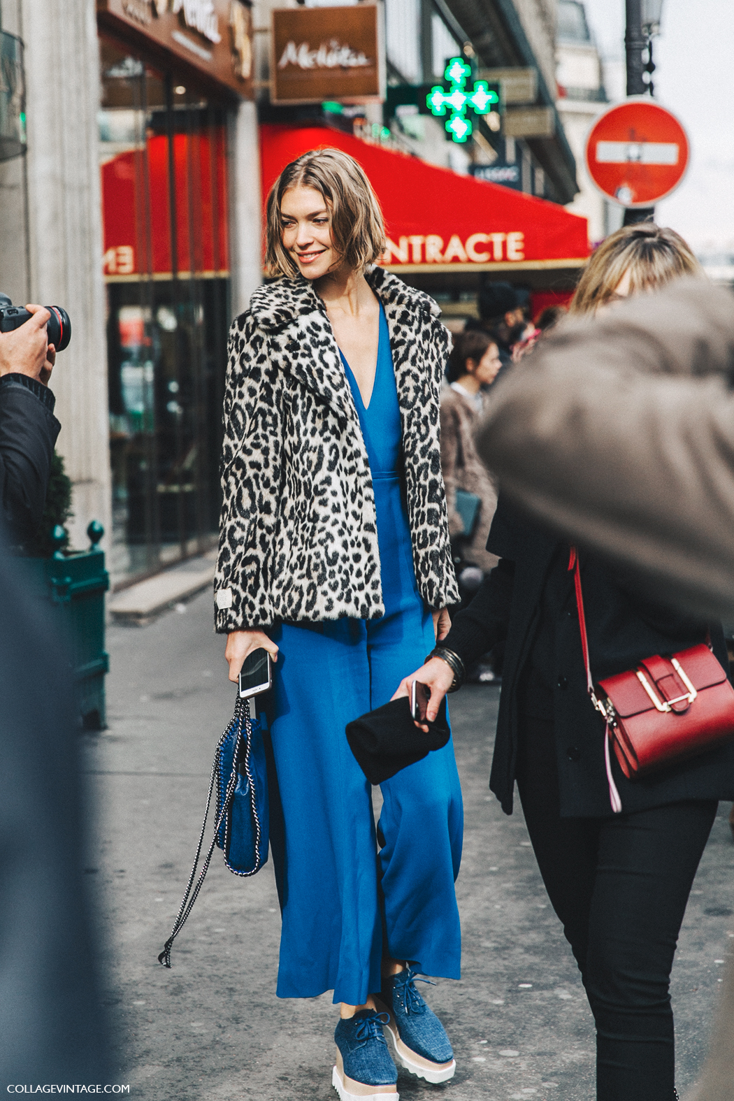 PFW-Paris_Fashion_Week_Fall_2016-Street_Style-Collage_Vintage-Stella_McCartney-Jumpsuit-Leopard_Fur_Coat-MOdel-1