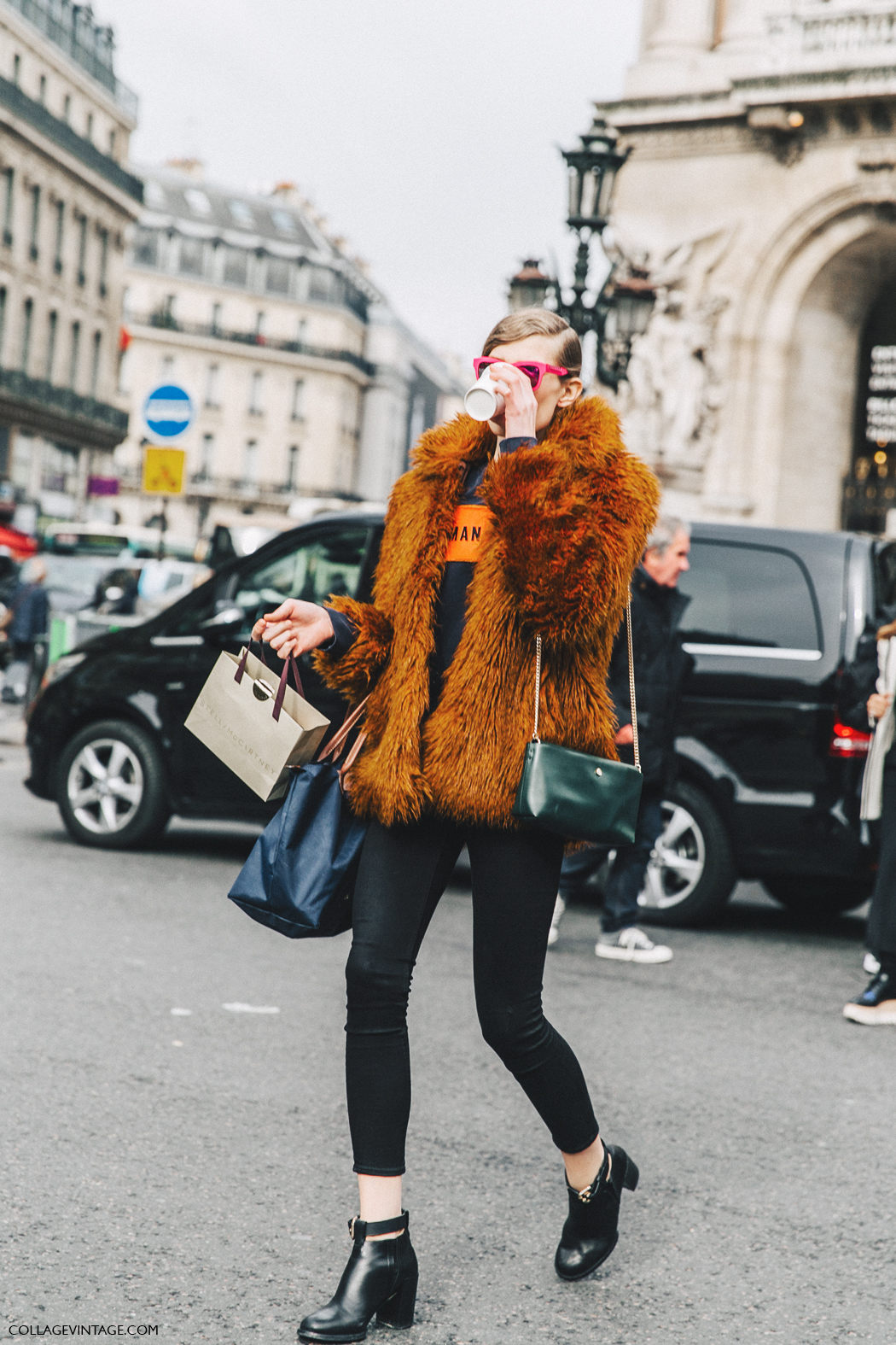 PFW-Paris_Fashion_Week_Fall_2016-Street_Style-Collage_Vintage-Stella_McCartney-Model-Fur_Coat-