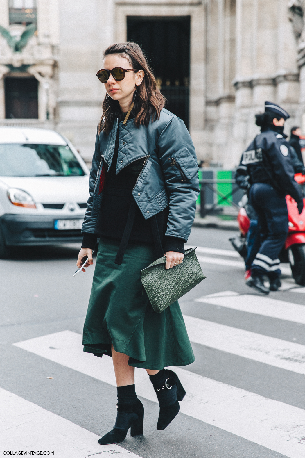 PFW-Paris_Fashion_Week_Fall_2016-Street_Style-Collage_Vintage-Stella_McCartney-Natasha_Goldenberg-Loewe_Clutch-Celine_Shoes-Bomber-1