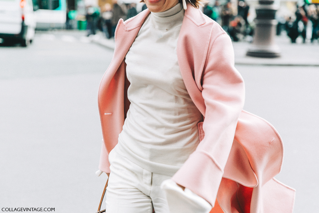 PFW-Paris_Fashion_Week_Fall_2016-Street_Style-Collage_Vintage-Stella_McCartney-Pink_Coat-