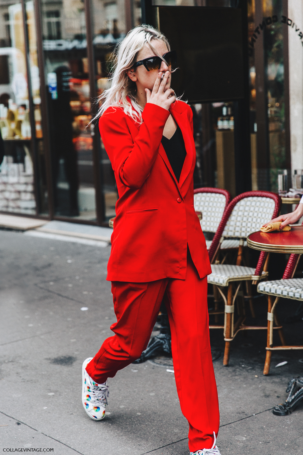PFW-Paris_Fashion_Week_Fall_2016-Street_Style-Collage_Vintage-Stella_McCartney-Red_Tuxedo-
