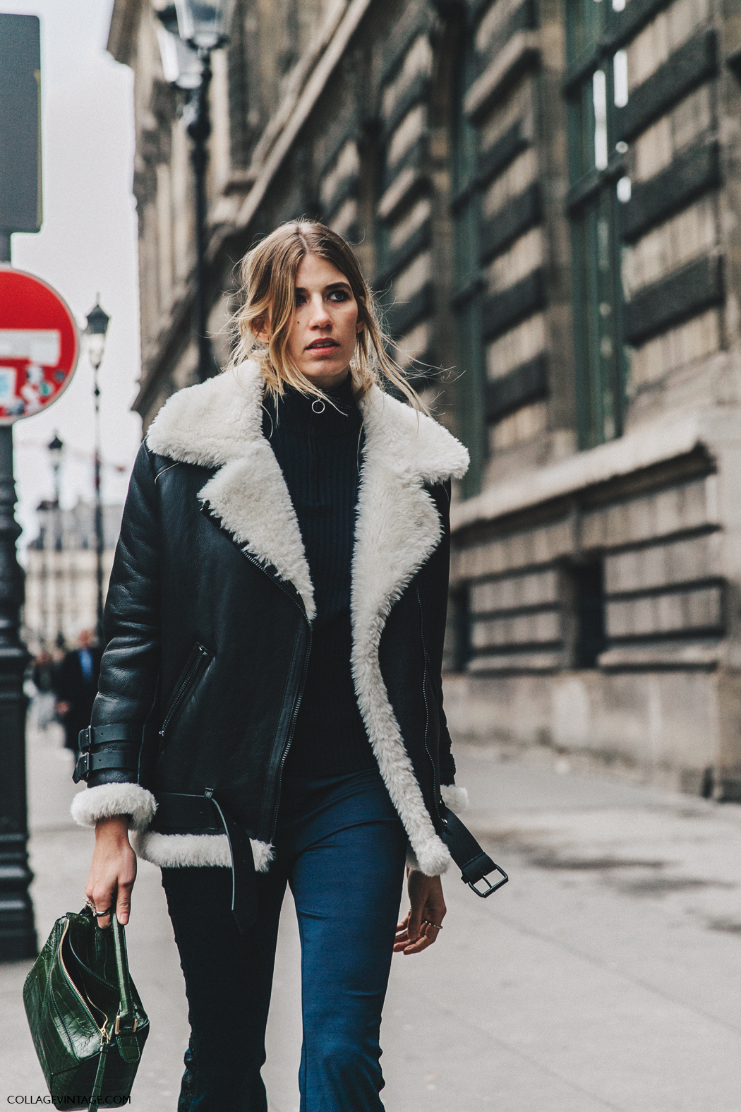 PFW-Paris_Fashion_Week_Fall_2016-Street_Style-Collage_Vintage-Veronika-Heilbrunner-Shearling_jacket-Acne-