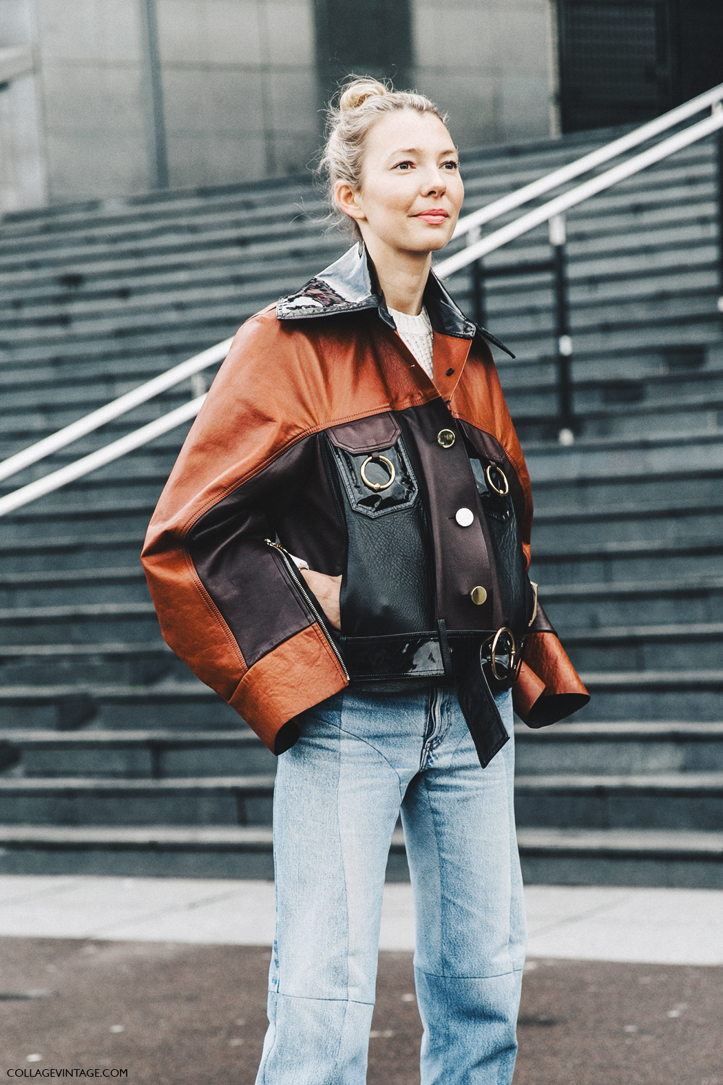 PFW-Paris_Fashion_Week_Fall_2016-Street_Style-Collage_Vintage-Vetements_Jeans-Celine_Boots-Leather_Jacket-6