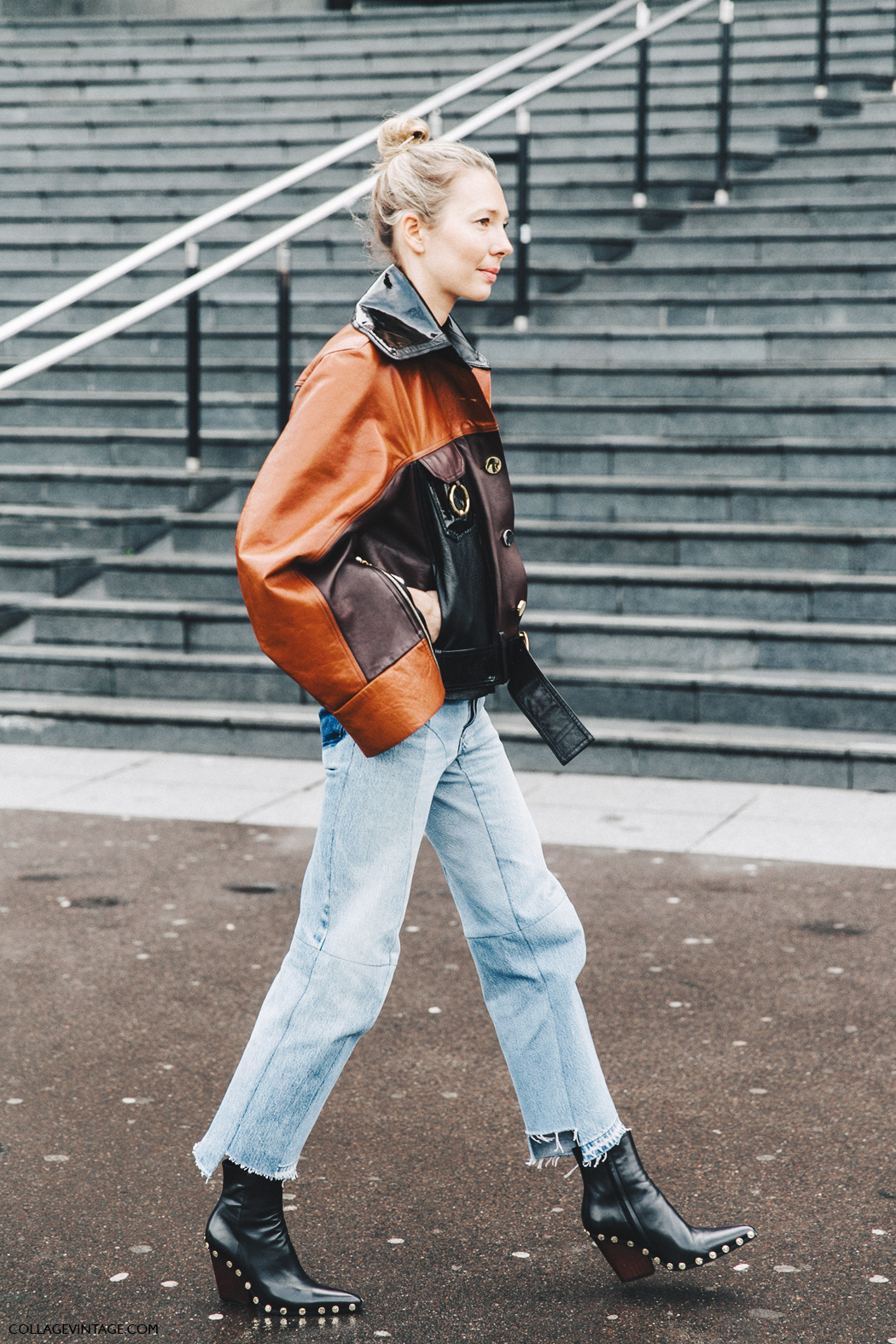 PFW-Paris_Fashion_Week_Fall_2016-Street_Style-Collage_Vintage-Vetements_Jeans-Celine_Boots-Leather_Jacket-8