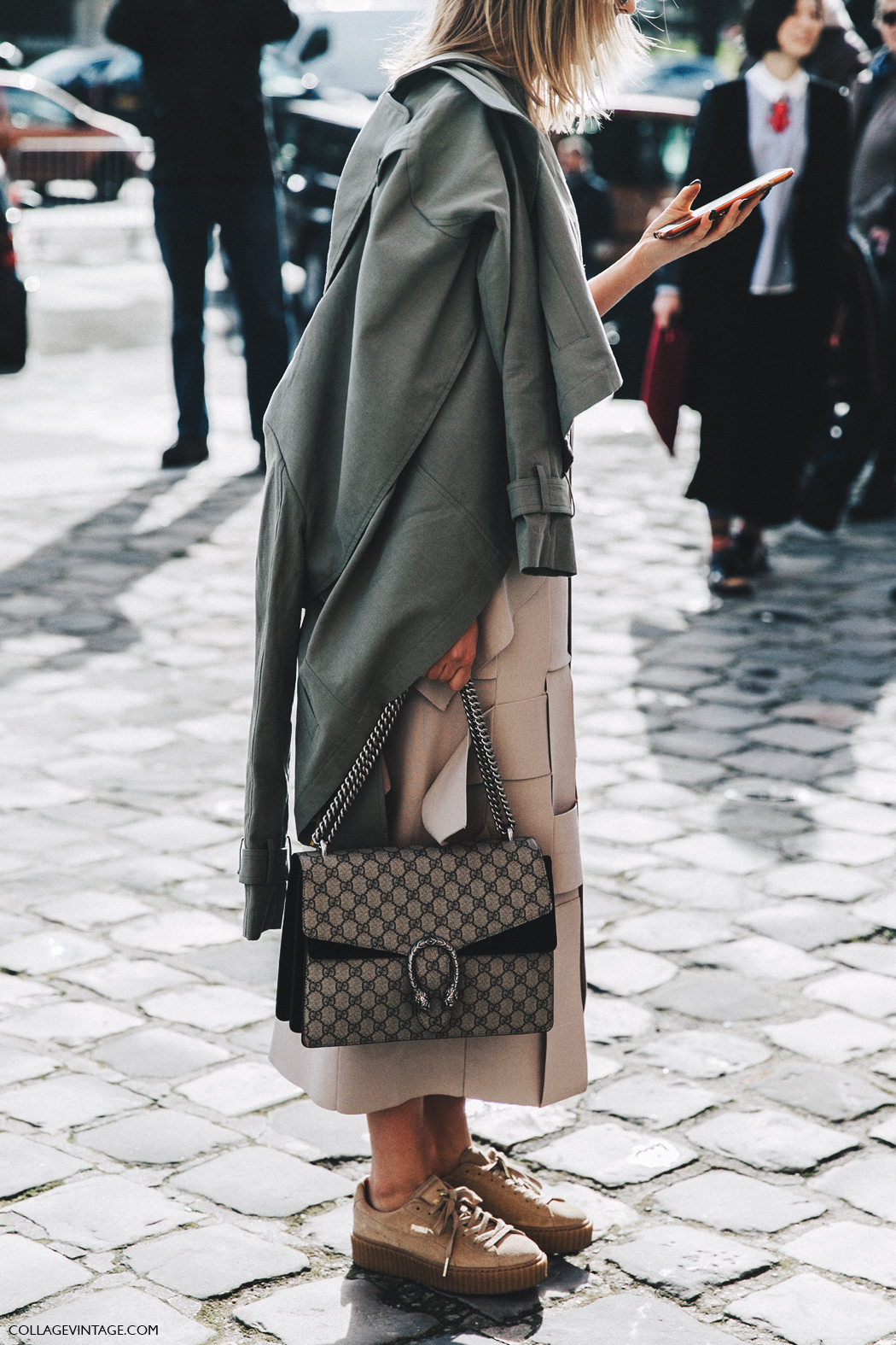 PFW-Paris_Fashion_Week_Fall_2016-Street_Style-Collage_Vintage-gucci_bag-midi_Skirt-Parka-
