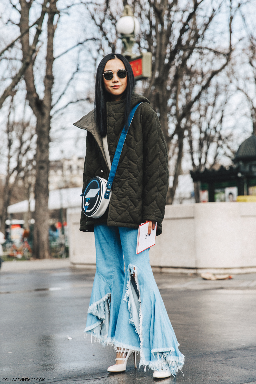 PFW-Paris_Fashion_Week_Fall_2016-Street_Style-Collage_Vintage-yoyo_Cao-Chanel_Bag-Ripped_Jeans-1