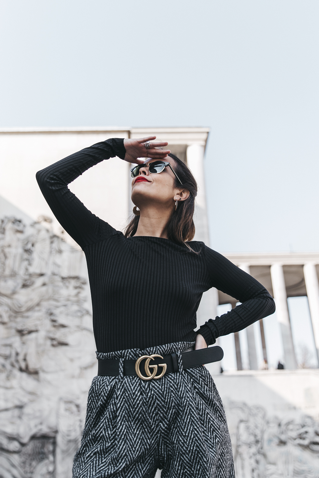 Black_Body-Leather_Jacket-Celine_boots-Gucci_Belt-Wide_Leg_Trousers-Street_Style-30