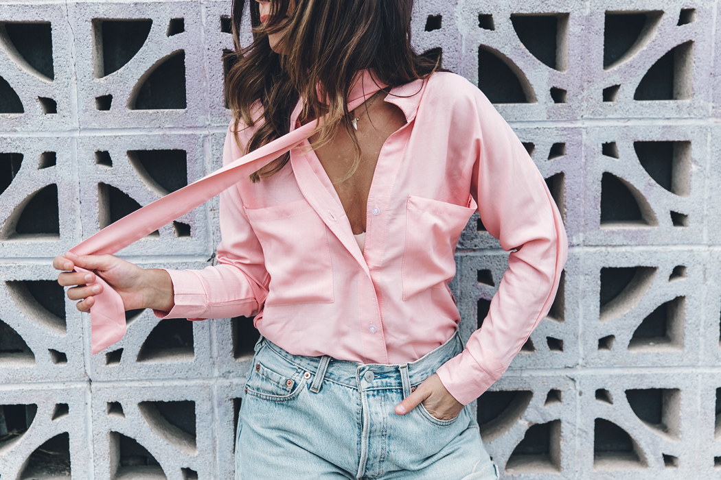 Goodnight_Macaroon-Levis_VIntage-Checked_Blouse-Pink_Shirt-Red_Heels-Marni_Sandals-Dallas-123