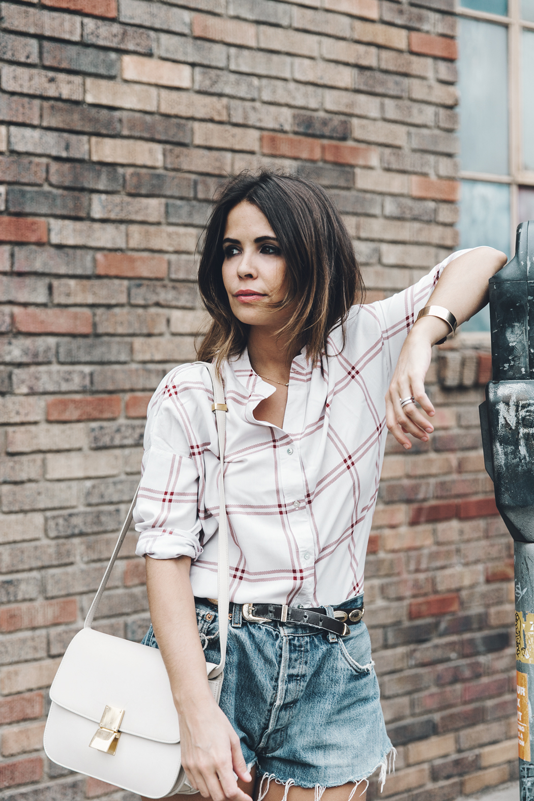Goodnight_Macaroon-Levis_VIntage-Checked_Blouse-Pink_Shirt-Red_Heels-Marni_Sandals-Dallas-16