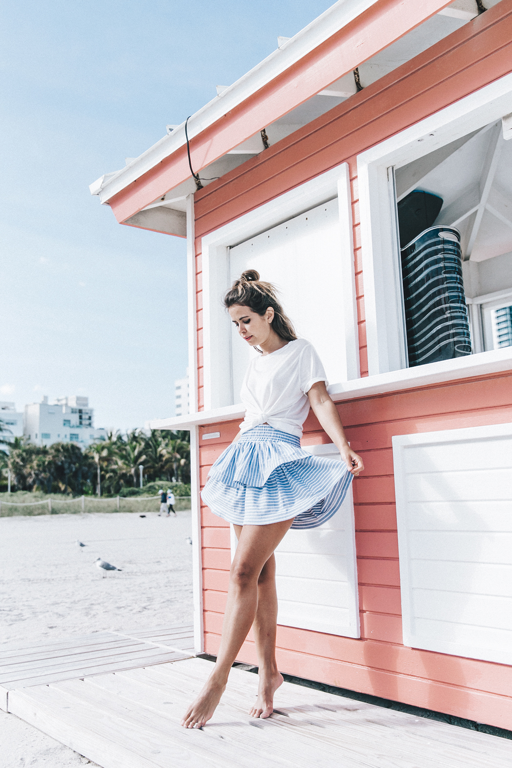 Miami-Striped_Skirt-Knotted_Top-Beach-South_Beach-Candy_Colors-Collage_On_The_Road-Street_Style-OUtfit-84