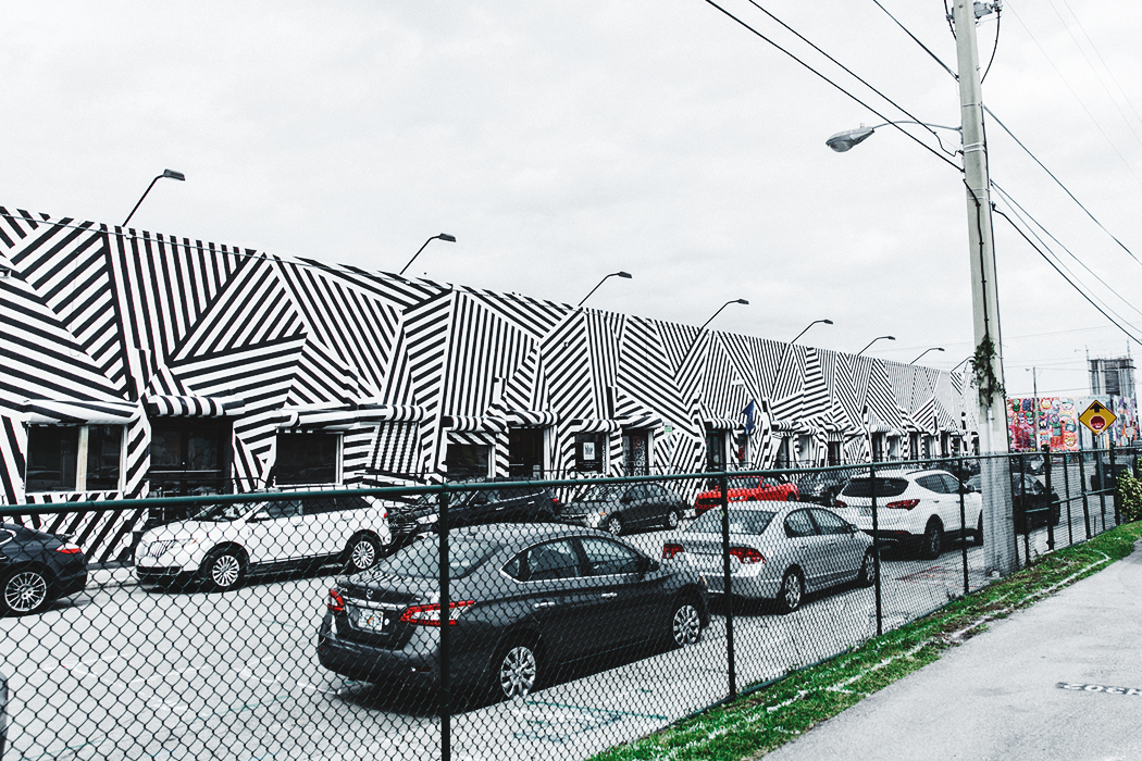 Wynwood-Miami-Black_And_White_Stripes_Wall-For_Love_And_Lemons_Dress-Floral_Print-Wedges-Outfit-61