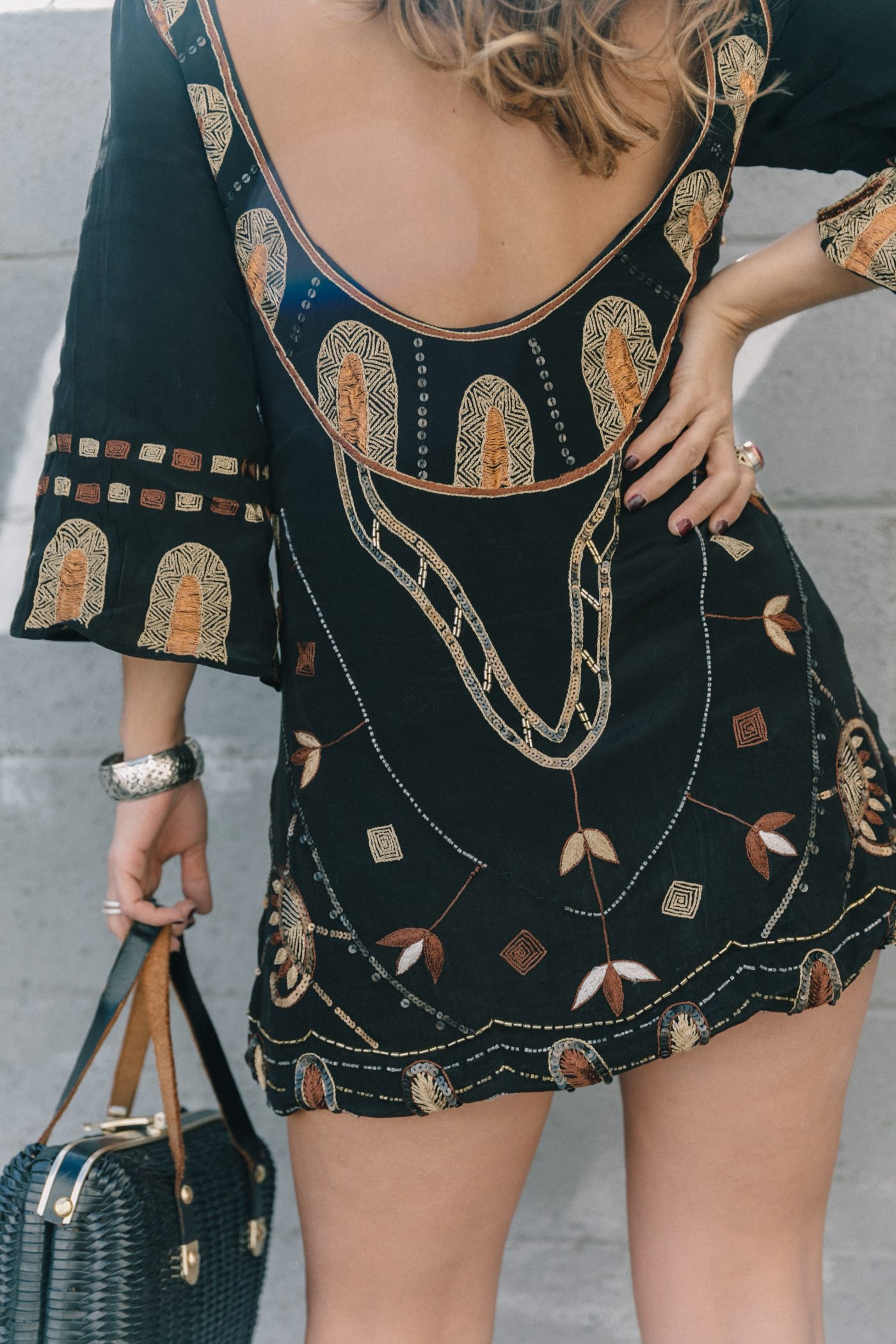 Boho_Dress-Jens_Pirate_Booty-Black_Beaded_Dress-Lace_Up_Sandals-Los_Angeles-Outfit-Collage_Vintage-42